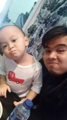 Bersama anaknya Pak Direktur Utama