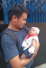 Bersama anaknya Pak Kepala Cabang